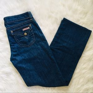 Hudson Dark Wash Flap Pocket Jeans